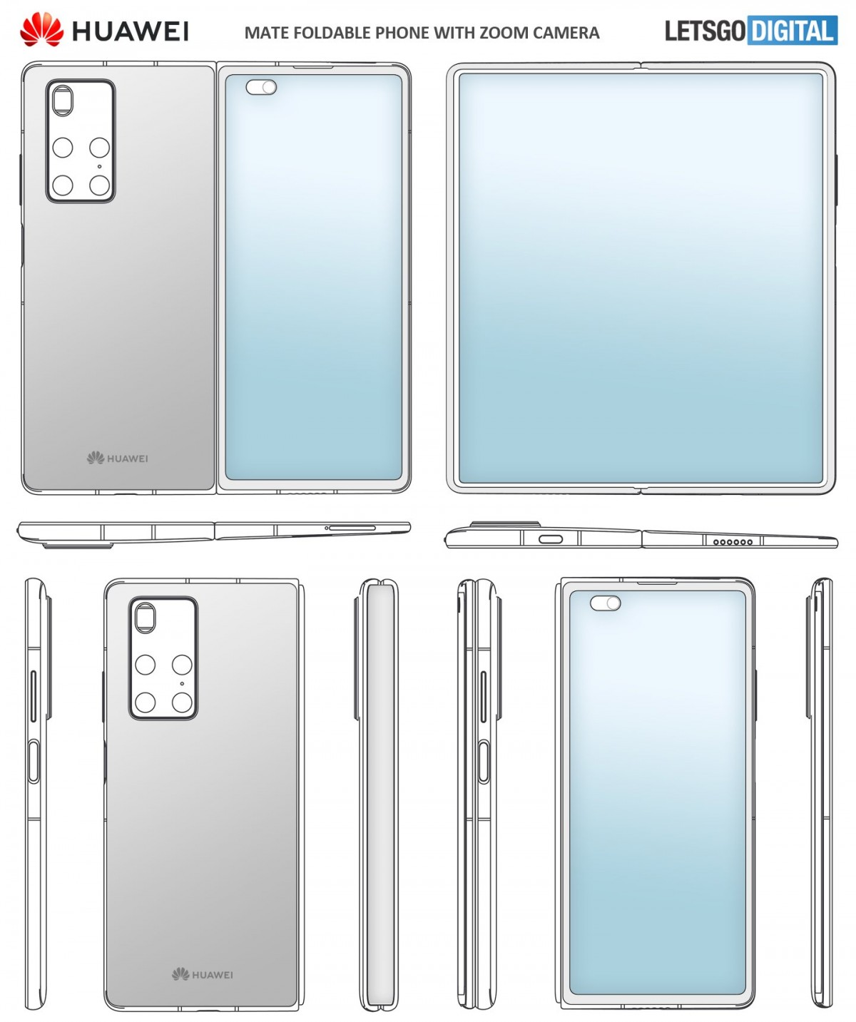 Huawei Mate X2 appears in new patent listing, model number also revealed