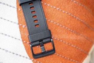 The watch band is a standard size