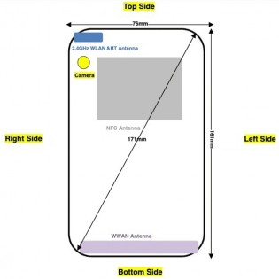 Nokia 3.4 front and back schematics