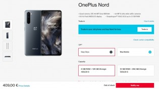 OnePlus Nord: the 8/128 GB version is out of stock in most regions
