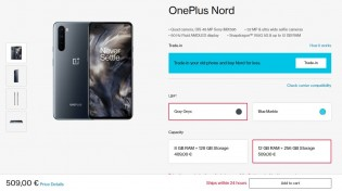 OnePlus Nord: the 12/256 GB option is still available