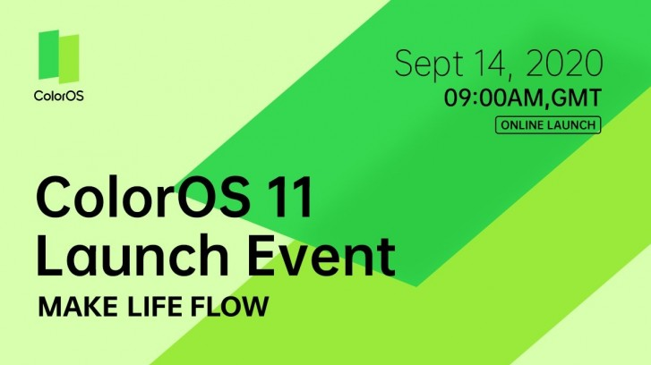 Next Oppo UI to be called ColorOS 11, launch scheduled for September 14