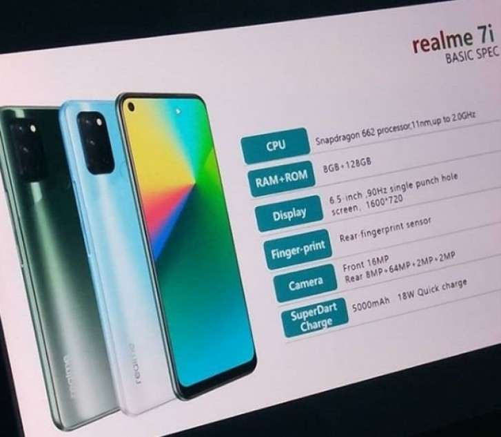 Realme 7i leaks with Snapdragon 662, officially arriving on September 17