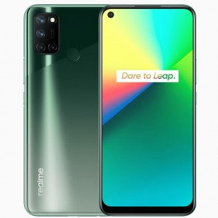 Realme 7i in Fusion Green color