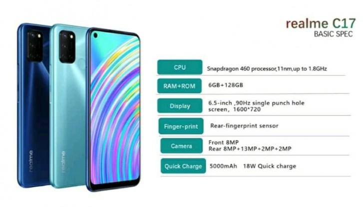 Realme C17 major leak confirms key specs