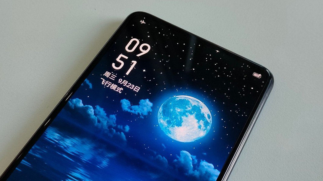 Realme smartphone with under-display selfie camera