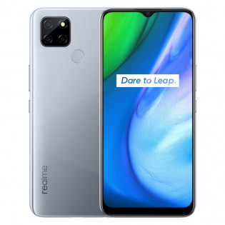 Realme V3 5G in White and Blue