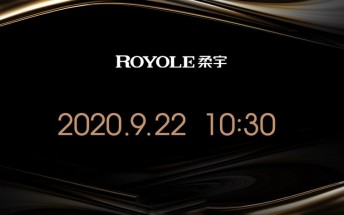 Royole FlexPai 2 launching on September 22, spotted on Geekbench