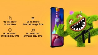 Battery life advertised by Samsung
