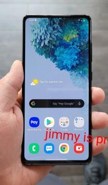 Samsung Galaxy S20 FE in hand