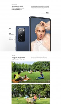 Samsung Galaxy S20 FE infographic