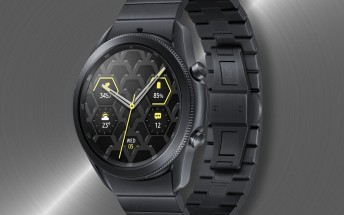 Titanium version of the Samsung Galaxy Watch3 unveiled in Germany