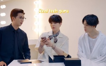 Watch Korean band BTS unbox the Samsung Galaxy Z Fold2 in this video