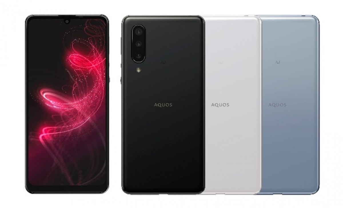 Sharp zero5G basic in black, white, blue