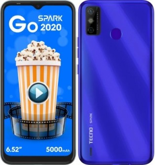 Tecno Spark Go 2020 en couleur Bleu Aqua