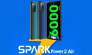 "Tecno Spark Power 2 Air unveiled: 7"" display, 6,000 mAh battery, coming to India next week"