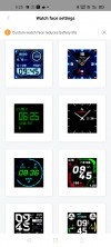 Custom watch faces available on Amazfit's official app which is now called Zepp