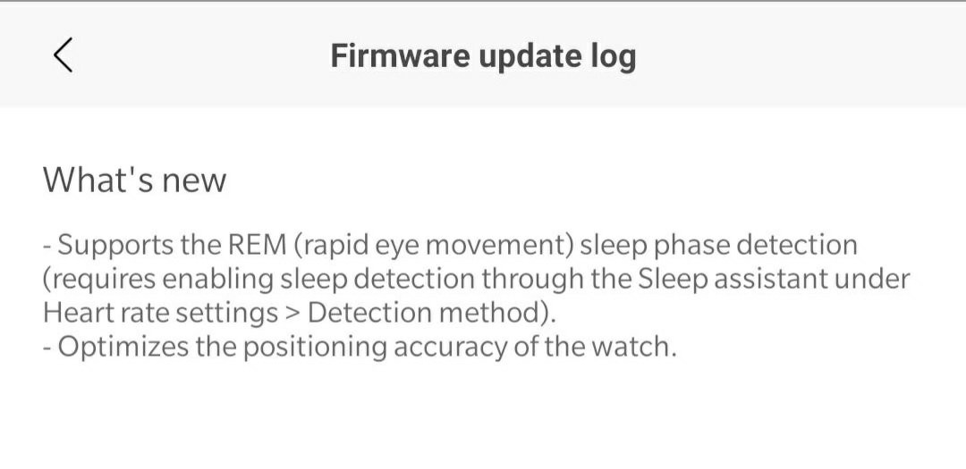 Update brings REM sleep detection to original Amazfit GTR and GTS, improves GPS