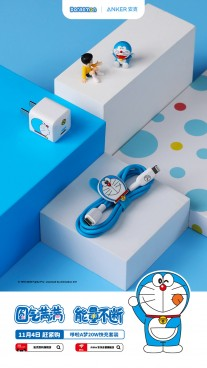 Anker's new Doraemon-themed charging accessories for the iPhone 12 series