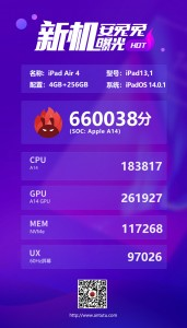 AnTuTu tests Apple A14 chipset: iPad Air (2020)