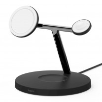 The Belkin MagSafe 3-in-1 Wireless Charger for iPhone 12 (available in White and Black)