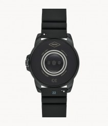44mm Fossil Gen 5E with silicone watch strap in black