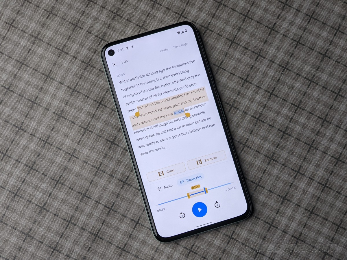 Google's Recorder App now lets you edit recordings by transcribed text