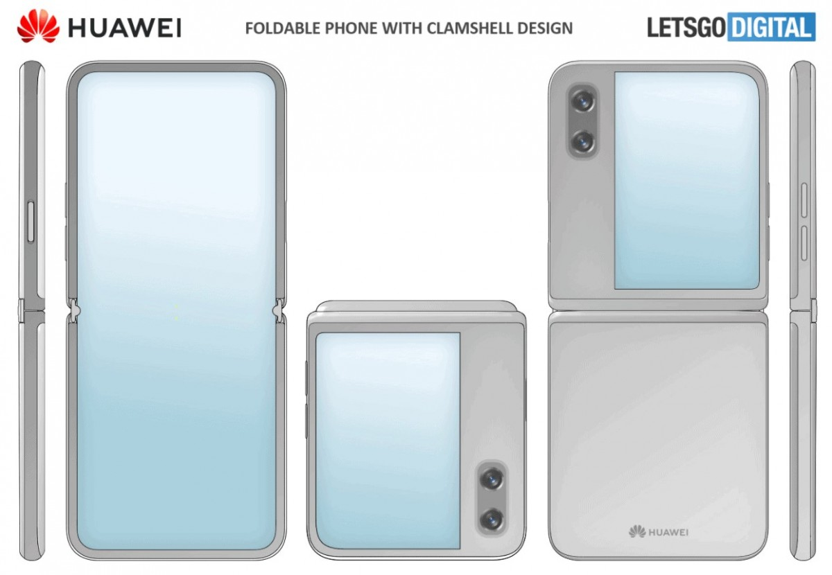 Huawei might be working on a foldable phone with clamshell design
