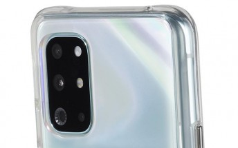 OnePlus 8T pictured in a case listing