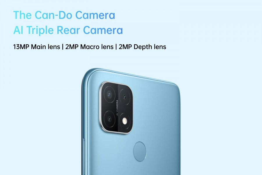 Тройная задняя камера Oppo A15, детализированная Amazon India