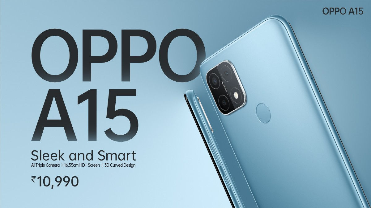 Oppo A15 goes official in India with Helio P35 and 4,230 mAh battery