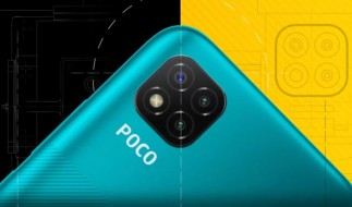 Poco C3 front and back