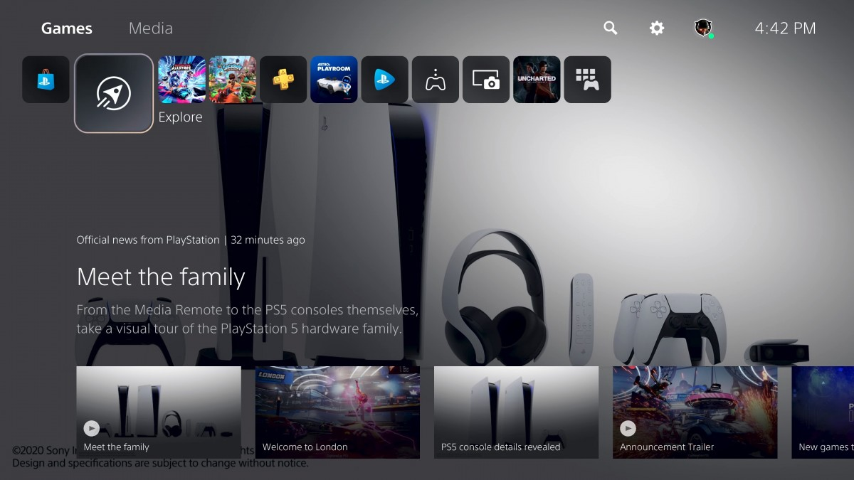 Sony finally shows off PlayStation 5 UI and new software features -  GSMArena.com news