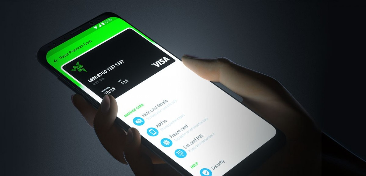Анонсирована Razer Card - предоплаченная карта Visa с 1% кэшбэком на все покупки и светящимся логотипом