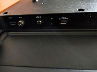 Connectivity ports on the right side of back of the Realme Smart TV