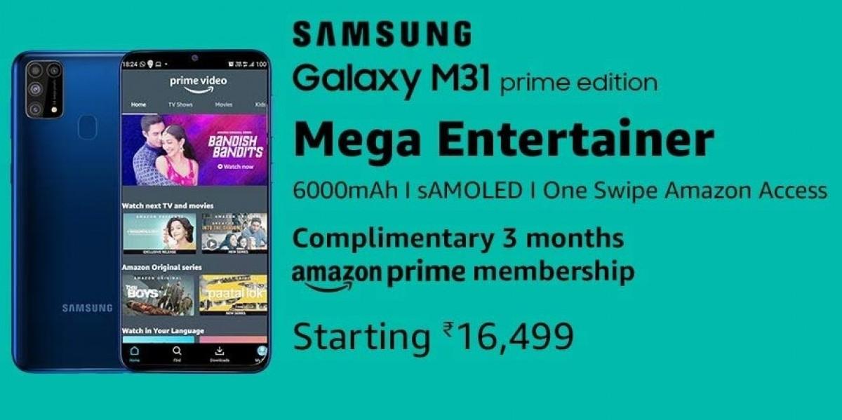 Samsung Galaxy M31 Prime Edition price revealed