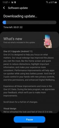 One UI 3 update