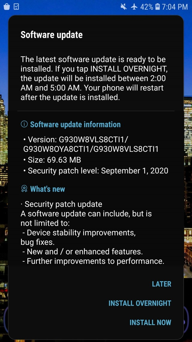 Samsung pushes September security patch for Galaxy S7 series - GSMArena.com  news