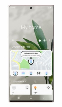 SmartThings Find interface