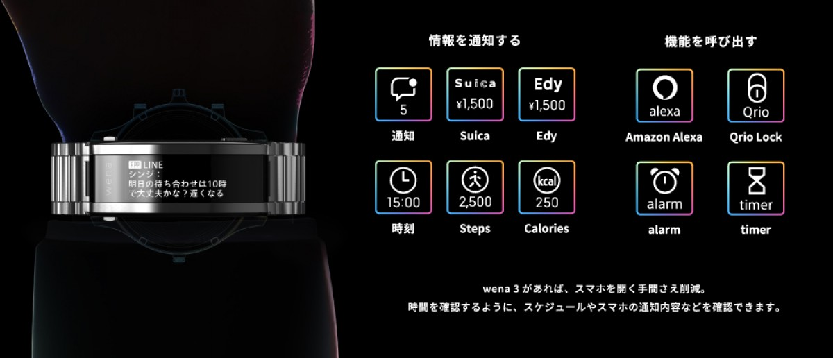 Sony Wena 3 smart strap for watches gains hear rate sensor, Alexa support