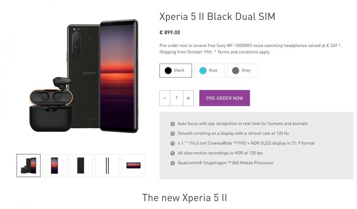Sony Xperia 5 II goes on pre-order in Europe with earphones, headphones or speakers bundled