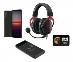 Gaming bundle including HyperX headset and 10,000 mAh power bank