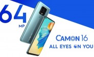 "Tecno Camon 16 arrives in India with 64MP quad camera and 6.8"" display for $150"