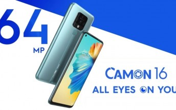 Tecno Camon 16 arrives in India with 64MP quad camera and 6.8