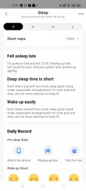 Sleep data