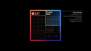 The octa-core GPU similarly trounces previous PC chips used by Apple