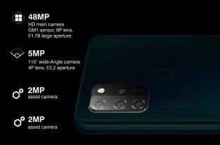 Un appareil photo principal de 48 MP et un appareil photo ultra large de 5 MP