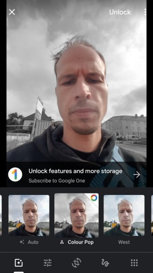 You need Google One subscription to use Colour Pop with photos lacking depth information