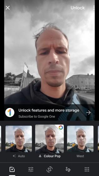 Vous avez besoin d'un abonnement Google One pour utiliser Color Pop avec des photos manquant d'informations de profondeur