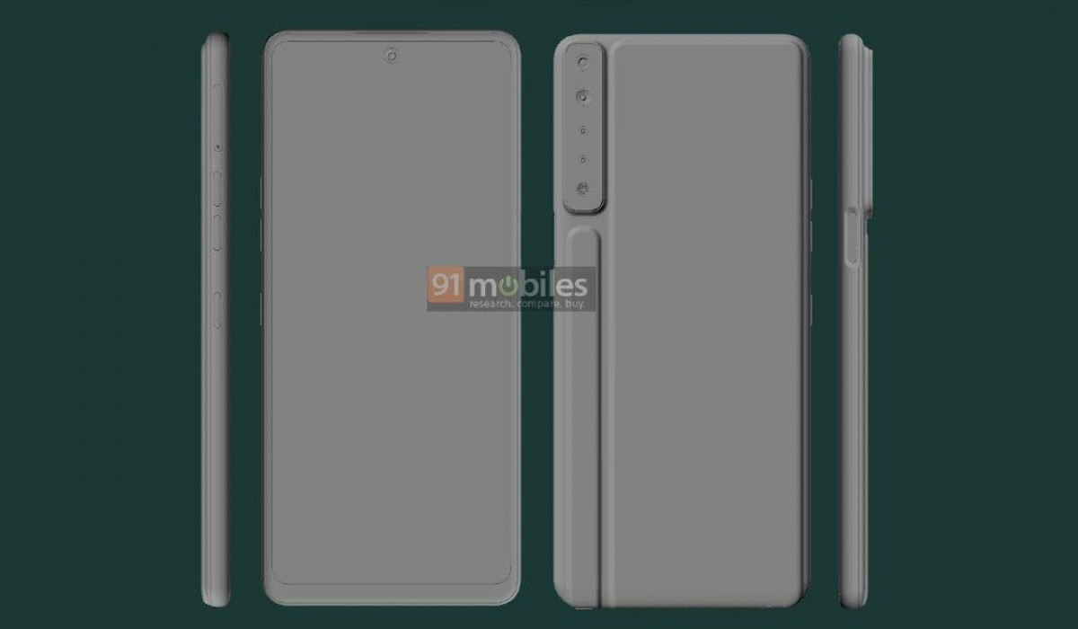 LG Stylo 7 renders show ridged design with four camer as and sylus